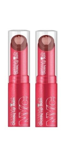 Lot Of 2 - Nyc New York Color Applelicious Glossy Lip Balm Chocolate Apple 352 - reddonut.com