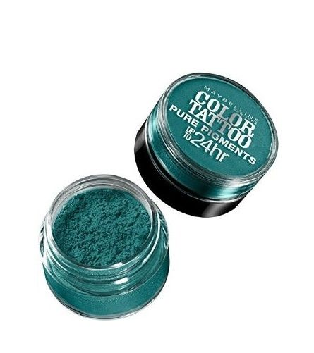 Lot Of 2 Maybelline Color Tattoo Pure Pigments Eye Shadow #5 Never Fade Jade - reddonut.com