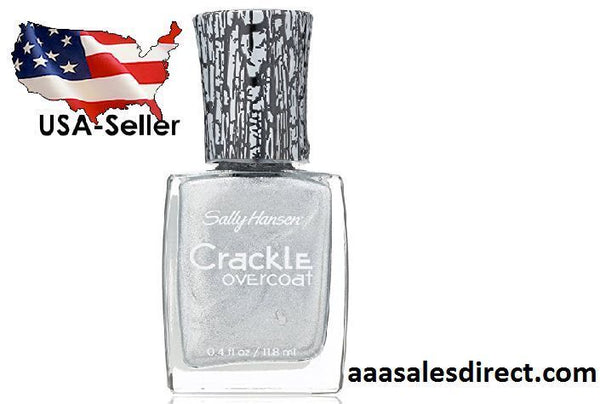 Sally Hansen Crackle Overcoat - 0.4 Fl Oz - Brand New - Fractured Foil, Nail Polish, SALLY HANSEN, reddonut.com