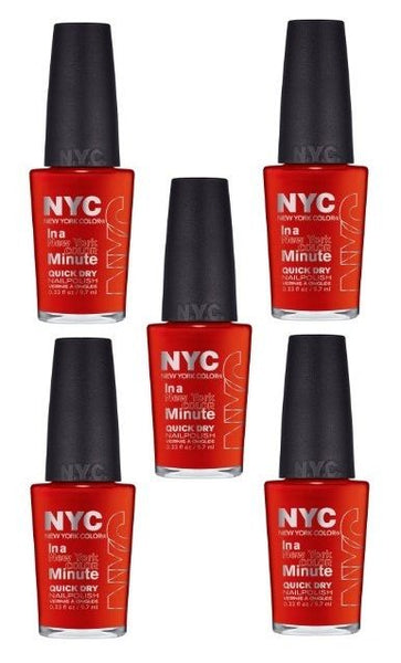Lot Of 5 -nyc In A New York Color Minute Quick Dry Nail Polish 221 Spring Street, Nail Polish, NYC, reddonut.com