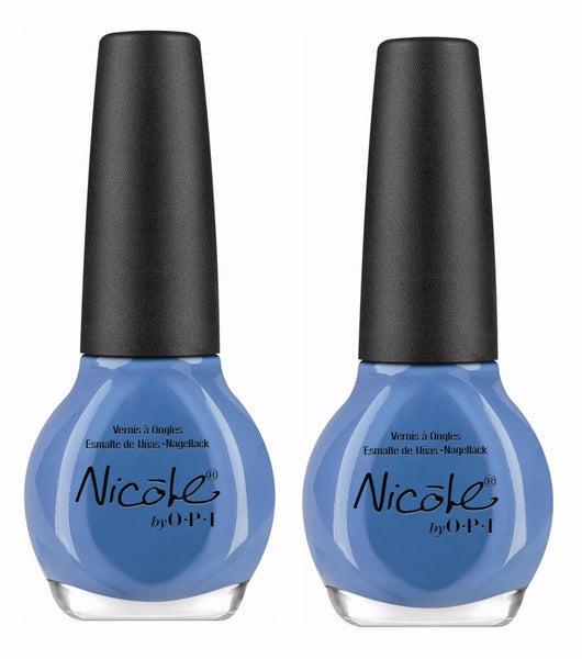 Lot Of 2 - Nicole By Opi Nail Polish/lacquer I Sea You And Raise You Light Blue, Nail Polish, Nicole by OPI, reddonut.com