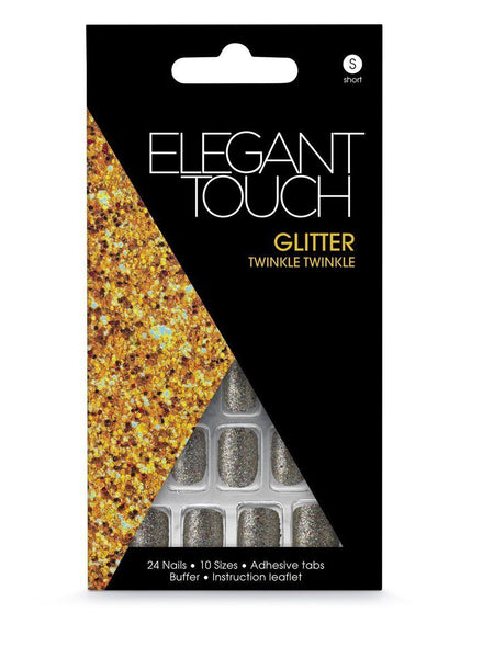 Elegant Touch Glitter Twinkle Twinkle Short Nails, Other Nail Care, elegant touch, reddonut.com