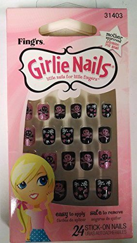 Girlie Nails Skulls & Hearts, #31403 Stick On Nails Nails For Halloween, Nail Art Accessories, Girlie Nails, reddonut.com