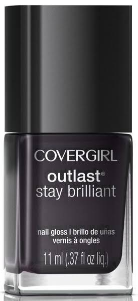Covergirl Outlast Stay Brilliant Nail Gloss 325 Black Diamond