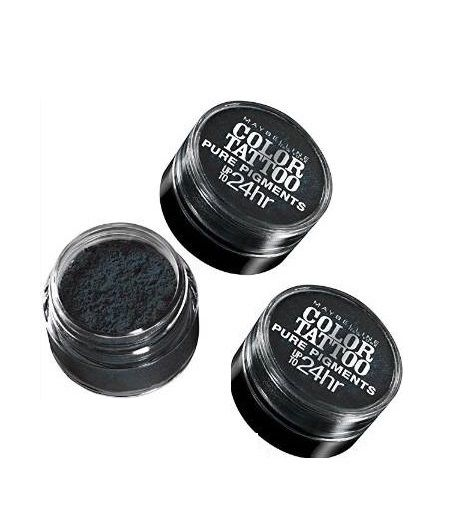 Lot of 3 - Maybelline Color Tattoo Eyestudio 24 Hour Eyeshadow#30 Black Mystery__Maybelline