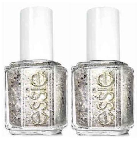 Lot Of 2 - Essie Nail Lacquer 960 Silver Sparkle Polish__Essie