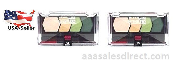 Maybelline Eye Studio Quad Eye Shadow 135 Enticing Emerald  2 Packs Save Big!, Eye Care, Maybelline, reddonut.com