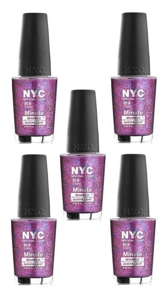 Lot Of 5 - New York Color In A New York Color Minute Nail Polish Big City Dazzle - reddonut.com