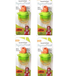 8 Pack Booginhead Squeezems Travel Easy Fill Safe Bpa Free Reusable Food Pouches__Booginhead