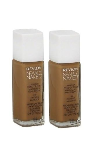 Lot Of 2 - New Sealed Revlon Nearly Naked Foundation Makeup 230 Nutmeg 1oz, Foundation, Revlon, reddonut