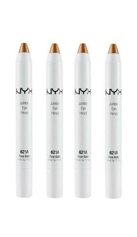 Lot of 4 - Nyx Cosmetics Fashion Jumbo Eye Pencil  # 621a  Pure Gold, Eyeliner, NYX, reddonut.com