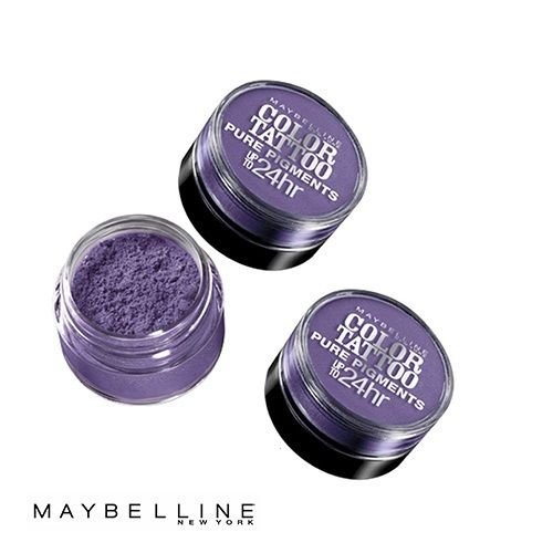 Lot of 3 - Maybelline Color Tattoo Pure Pigments Eye Shadow #15 Potent Purple, Eye Shadow, Maybelline, reddonut.com
