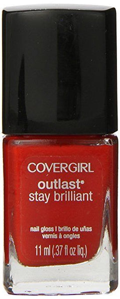 Covergirl Outlast  Stay Brilliant Nail Polish Lacquer In Ever Reddy #175, Nail Polish, CoverGirl, reddonut