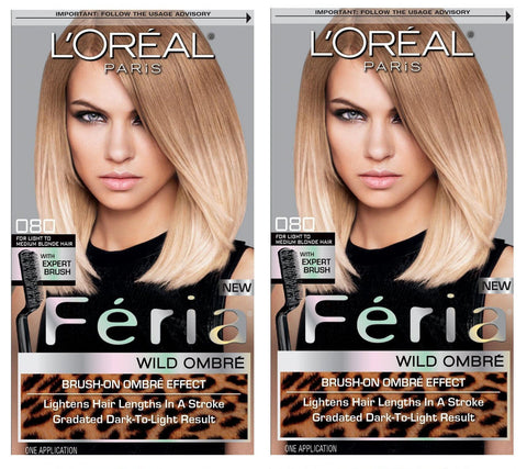 L'Oreal Paris Feria Intense Ombre Hair Color, Light To Medium Blonde O80, Hair Color, L'Oreal, reddonut