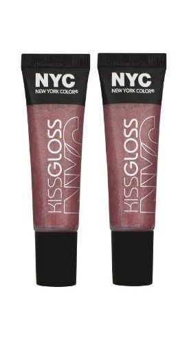 Lot Of 2 - N.y.c. / Nyc Kiss Gloss #539 Soho Sweetpea, Lip Gloss, NYC, reddonut.com