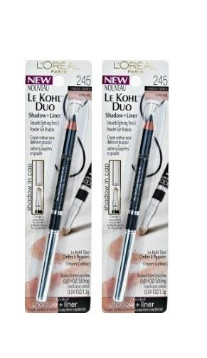 Lot Of 2 -L'Oreal Le Kohl Duo Shadow And Liner, Charcoal/honey, 0.05 Ounce, Blush, L'Oreal, reddonut