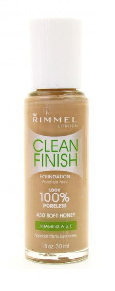 "Rimmel Clean Finish Foundation 430 Soft Honey, ""Choose Your Pack!"", Foundation, Contains Minerals, reddonut.com"