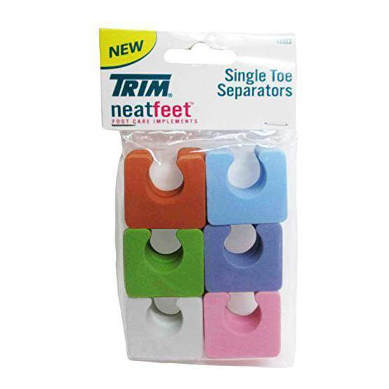 TRIM Neat Feet Single TOE Separators Pedicure Aid 12ct Assorted Colors - 13323, Other Makeup Tools & Accs, TRIM, reddonut.com