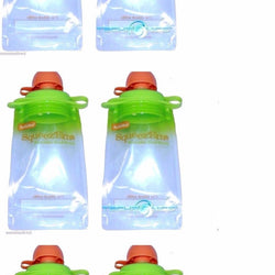 (6-pack) Snack Pack Refillable Baby Food Pouch - Reusable Squeeze Pouch Bpa Free, Other Baby Dishes, Booginhead, reddonut