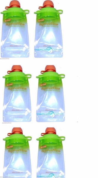 (6-pack) Snack Pack Refillable Baby Food Pouch - Reusable Squeeze Pouch Bpa Free