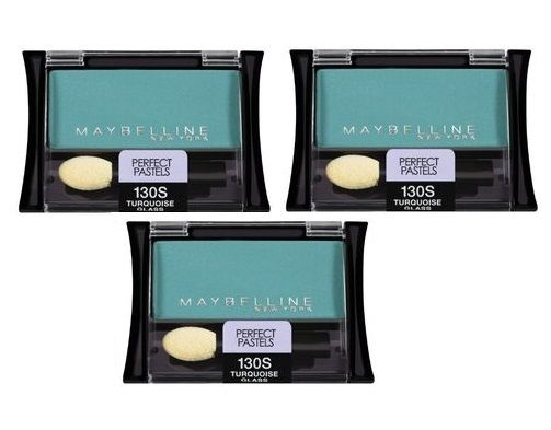 Lot of 3 - Maybelline Ny Eyeshadow  130s Turquoise Glass Perfect Pastels, Eye Shadow, Maybelline, reddonut.com