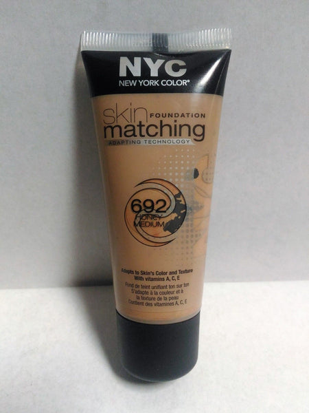 NYC New York Color Skin Matching Foundation, 692 Honey Medium, Foundation, NYC, reddonut.com