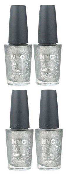 Lot of 4 - Nyc in a New York Color Minute Nail Polish #292 Tribeca Silver, Nail Polish, NYC, reddonut.com