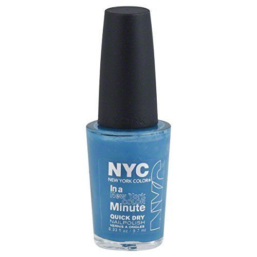 Nyc New York Collection In A Minute Quick Dry Nail Polish Water Street Blue 296__NYC