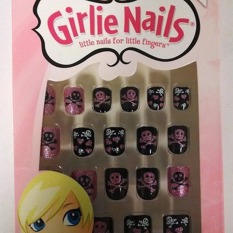 Fing'rs Girlie Nails Stick On Nails Nails For Halloween Skulls & Hearts, #31403, Nail Art Accessories, Girlie Nails, reddonut.com