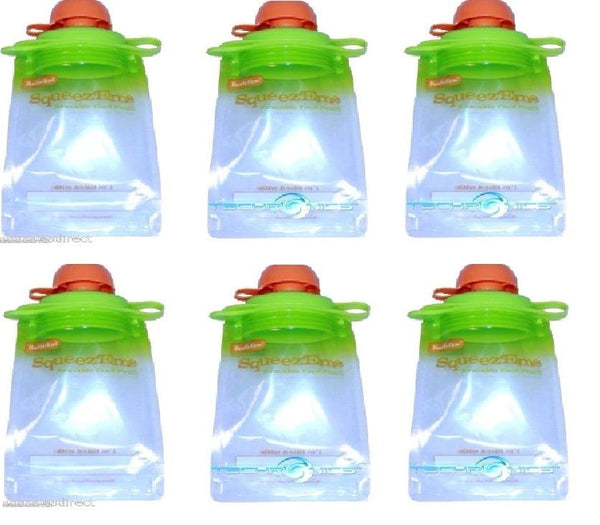 Reusable Baby Toddler Or Adult Food Pouch (6 Pack),, Other Baby Dishes, Boogin Head, reddonut.com