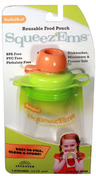 4 PACK BOOGINHEAD SQUEEZEMS TRAVEL EASY FILL SAFE BPA FREE REUSABLE FOOD POUCHES - reddonut.com