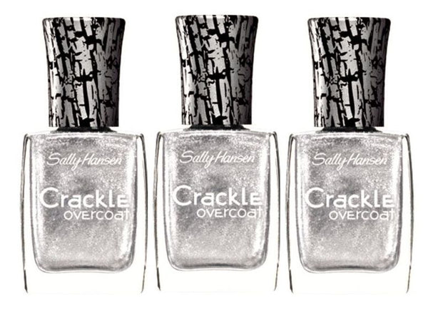 Lot Of 3 Sally Hansen Crackle Overcoat - 0.4 Fl Oz - Brand New - Fractured Foil__SALLY HANSEN