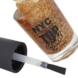 NYC MADE IN FRANCE  TOP OF GOLD TOP COAT NAIL LACQUER  ENAMEL__NYC