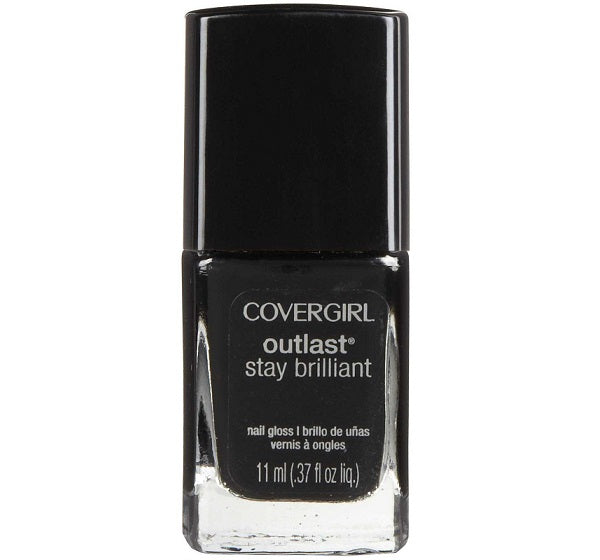 Covergirl Outlast Stay Brilliant Nail Polish, 325 Black Diamond Choose Your Pack, Nail Polish, CoverGirl, reddonut