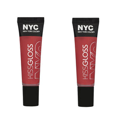 NYC Kiss Gloss Lip Gloss, 536 Murray Hill Melon CHOOSE YOUR PACK, Lip Gloss, NYC, reddonut.com