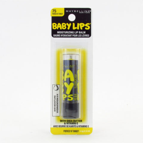 Maybelline Baby Lips Moisturizing Lip Balm, 75 Fierce N Tangy Choose Your Pack, Lip Balm & Treatments, Maybelline, reddonut.com