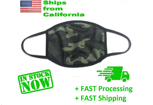 Camouflage face mask Reusable/washable Made in USA >>Wholesale Available<< you Choose 1, 5, 10, 20, or 100 Pack, , mdsuppliesusa.com, reddonut.com