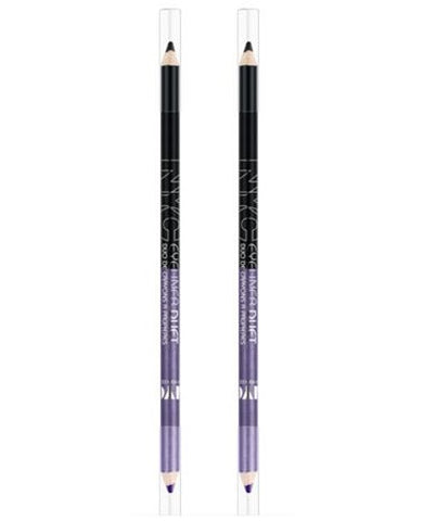NYC Eyeliner Duet Pencil, 886 Through The Storm, CHOOSE YOUR PACK, Eyeliner, NYC, reddonut.com