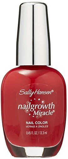 Sally Hansen Nail Growth Miracle Polish, 330 Stunning Scarlet Choose Your Color, Nail Polish, reddonut, reddonut.com