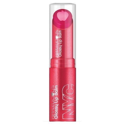 NYC Applelicious Glossy Lip Balm, 355 Applelicious Pink CHOOSE YOUR PACK, Lip Gloss, CoverGirl, reddonut.com