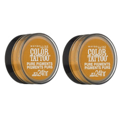 Maybelline Color Tattoo Pure Pigments Eye Shadow, #25 Wild Gold Choose Your Pack, Eye Shadow, Maybelline, reddonut.com