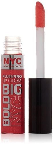 Nyc Big Bold Plumping Lip Gloss, 472 Coral to the Max Choose Your Pack, Lip Gloss, reddonut, reddonut.com