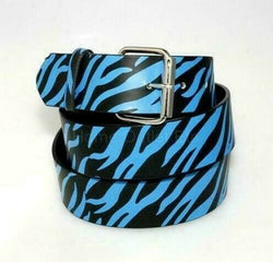Zebra Stripes Printed Leather Belt Animal Removable Roller Buckle Unisex Womens, , reddonut.com, reddonut.com
