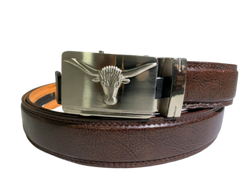Men's Belt Leather Dress Casual Automatic Lock Eagle,Unicorn, Bull Buckle Design, , reddonut.com, reddonut.com