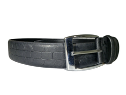 Italian Style Belts Black Leather Snake/Reptile Textured L40 Men Women NEW, , reddonut.com, reddonut.com
