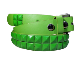 KIDS COLORS METAL STUDDED BONDED LEATHER BELT w REMOVABLE BUCKLE MANY COLORS, , reddonut.com, reddonut.com