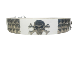 3-Row Metal Pyramid Studded Skull Belt Unisex Women Men Punk Rock Biker Emo, , reddonut.com, reddonut.com