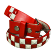 Childrens Kids 2 Row Metal Pyramid Studded Leather Belt w/ Removable Buckle, , reddonut.com, reddonut.com