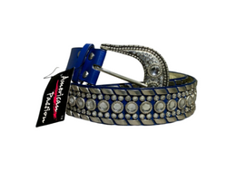 LADIES LEATHER LIKE RHINESTONE BLING WESTERN STYLE BELT - AMERICAN PASSION, , reddonut.com, reddonut.com