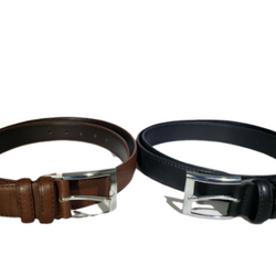Italy Style Brand Men's Genuine Leather Black Belt Size S / M / L / XL NEW, , reddonut.com, reddonut.com